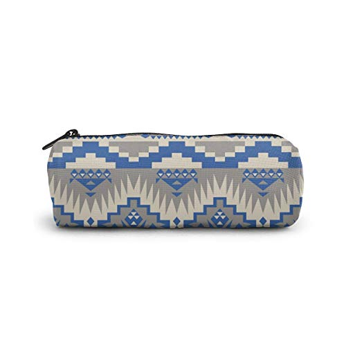 Native Southwest American Indian Aztec Navajo Pencil Case Pen Marker Holder Pouch Box Makeup Bag Portable  Students Stationery Bag Women Cosmetic Bag