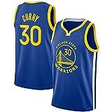 Camisetas De Baloncesto De Malla De Malla Sin Mangas Curry Golden State Warriors # 30 Swingman Jersey,Azul,M