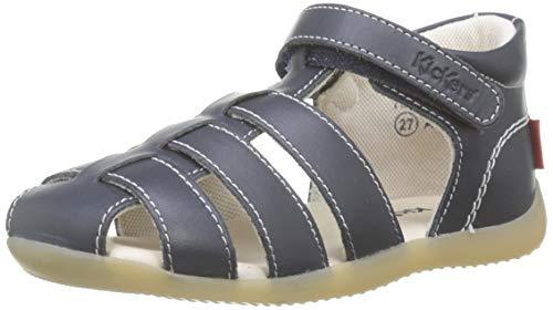 Kickers Bigflo-2, Sandalias Unisex bebé, Azul (Marine Foncé 103), 18 EU