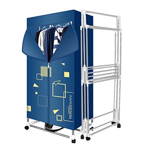 Faltbare Schnelltrocknermaschine, Tragbarer Wäschetrockner Für den Innenbereich Mit 1600 W Leistung, Schnelltrocknender Trockenschrank, Heizkörper Mit Edelstahlhalterung (L × B × H) 75 × 48 × 150 cm