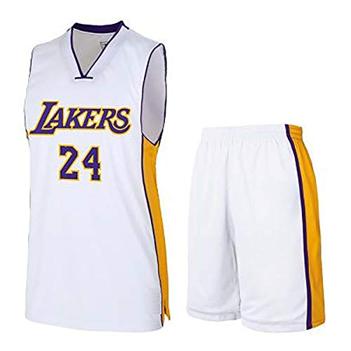 Los Angeles Lakers Kobe Bryant Unisex Camiseta de Baloncesto Retro sin Mangas Poliéster Malla Chaleco para Deportivo,C,5XL