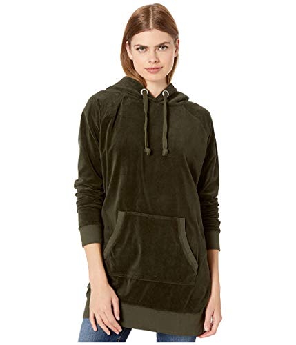 Juicy Couture Velour Oversized Boyfriend Hoodie Lost Labyrinth PT/XS (US 0)
