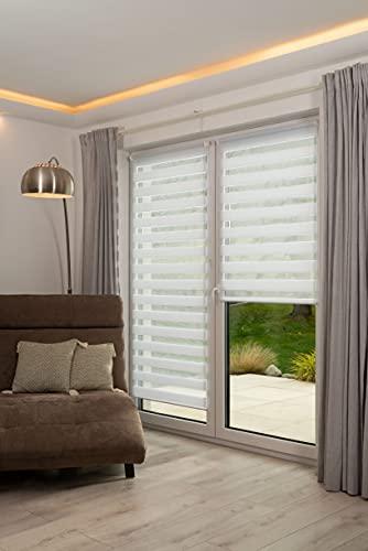 K-home Klemmfix, Tenda a rullo Madrid, Fissaggio a Clip Senza Viti, Bianco, 55 x 200 cm