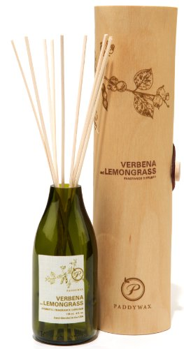 Paddywax Candles Eco Collection Aromatherapy Reed Oil Diffuser Set, Verbena & Lemongrass