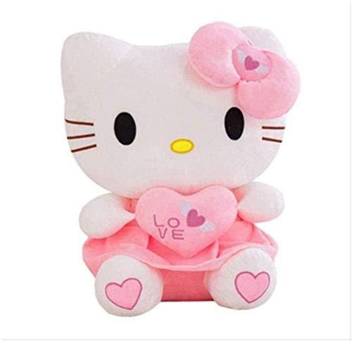 N/D Kawaii Kt Cats Plush Toys 30 cm Lovely Stuffed Animal Pillow Cushion Heart Hello Kitty Dolls for Kids