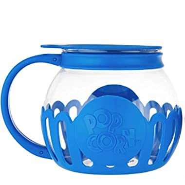 Ecolution Kitchen Extras 1.5-Quart Glass Popcorn Popper -Dishwasher Safe (BLUE)