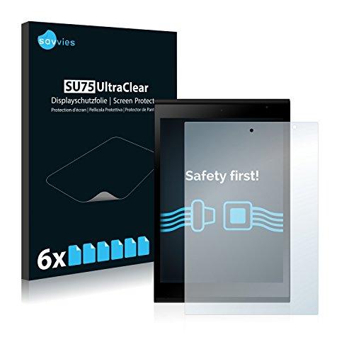 Savvies 6X Schutzfolie kompatibel mit Jolla Tablet Bildschirmschutz-Folie Ultra-transparent