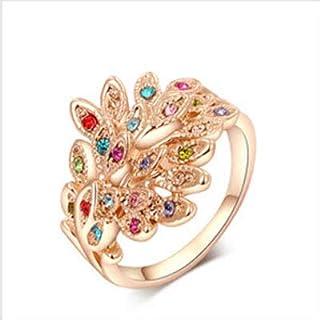 خاتم نسائي مطلي بالذهب مقاس 7 أمريكي RING GOLD PLATED SIZE 7, Women ring gold plated
