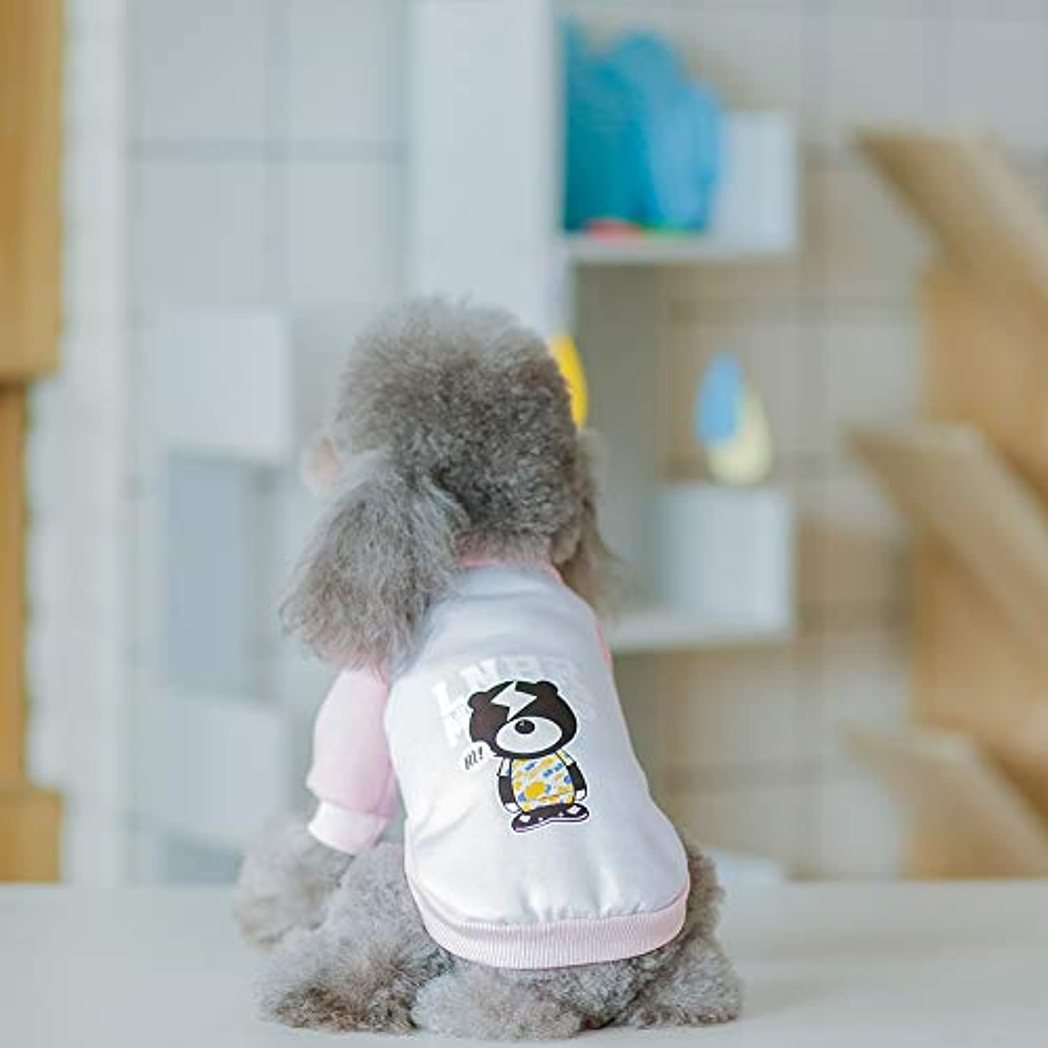 Cat Outwear, Pet Puppy Cat Cute Cotton Warm Hoodies Dog Hoodies Pet Clothes Warm Cute Cotton Soft Puppy Outfit,Pink,XXL