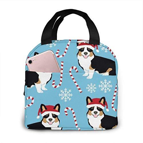 remmber me Jungen Mädchen Isoliert Neopren Lunchpaket Corgi Gehstock Candy Tote Handtasche Lunchbox Lebensmittelbehälter Kühler Warme Tasche für die Schule Arbeitsbüro