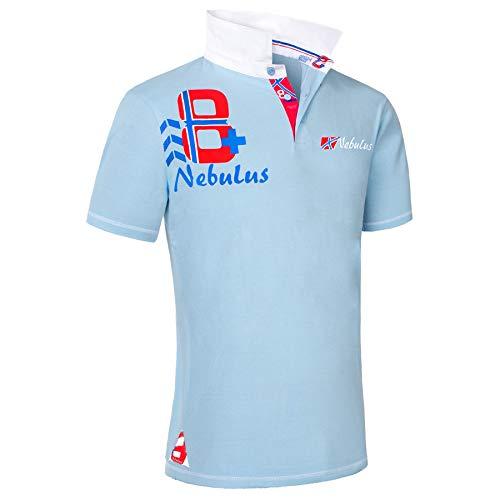 Nebulus Polo portes L bleu clair