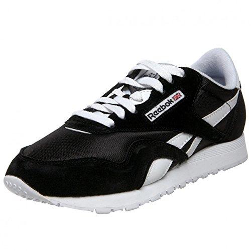 Reebok Cl Nylon, Zapatillas de Trail Running Hombre, Negro Black White, 34.5 EU