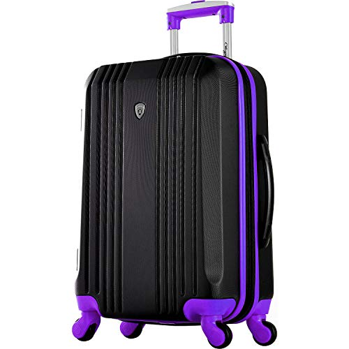 Olympia Apache Ii 21' Carry-on Spinner, Black/Purple