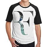 MarySWest Superestrella Roger-Federer Nuevo Estampado Estampado Hombres Manga Corta Camiseta raglán Hombres Camisetas algodón Camisetas Tops Hombre