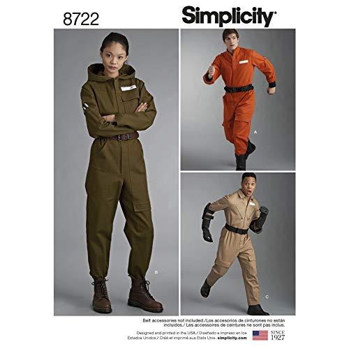 Simplicity Schnittmuster 8722 Kostüme A (XS-S-M-L-XL)