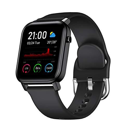 YONGLI para Samsung Galaxy A6 + A6S A8S A9S A8 + (2018) J3 J4 J6 J8 M31 M21 Smart Watch Pulsera Monitor De Sueño IP68 Impermeable (Color : Black)