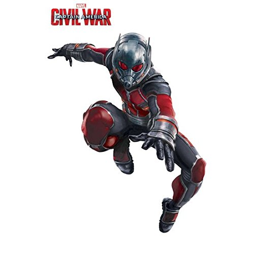 Paul Rudd/Ant-Man 8 Inch x 10 Inch photograph Captain America Civil War The Winter Soldier The Avengers Age of Ultron Mid-Leap Left Arm Extended Title at Top kn