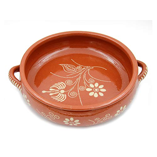 Ceramica Edgar Picas Traditional Portuguese Hand-painted Vintage Clay Terracotta Cooking Pot Cazuela