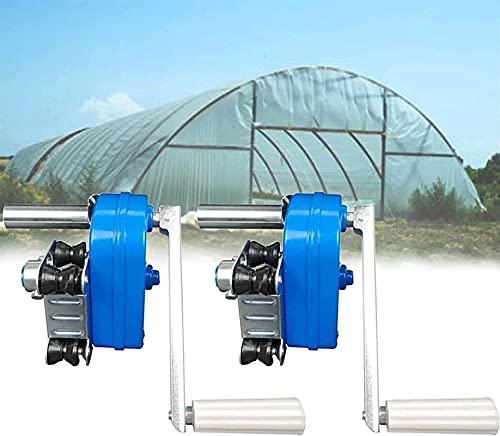 Gewächshaus-Seitenwand-Handkurbelwinde, Manuelle Folienwickelvorrichtung Für Landwirtschaftliche Gewächshäuser, Folienrollo-Maschine, Ideal Für Die Belüftung Von...
