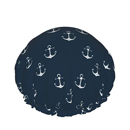 Ship Anchor Design Packaging Nature Gorros de ducha, gorro...