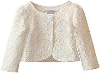 CHENXIN Girls Shrug Knit White Short Sleeve Bolero Cardigan Shrug
