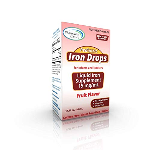 Pharmacists Choice Pediatric Iron Supplement Drops for Infants, 50 mL Dropper Bottle