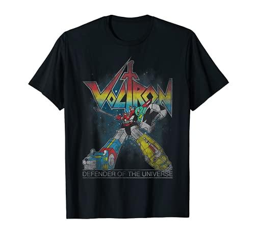 Voltron Retro Defender Rainbow Graphic T-Shirt