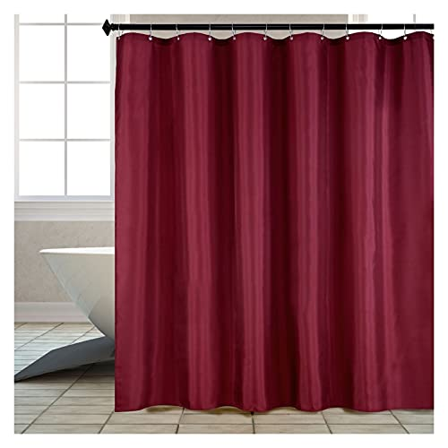 YUANLIN duschvorhang Wein-roter Duschvorhang Dicker Polyester-Duschvorhang Badezimmer wasserdichte Duschvorhänge (mit Hakenringen) 3D duschvorhang (Color : Wine red, Size : 150X200CM)