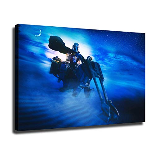 Baby Yoda The Child Mandalorian Poster HD Printed Star Wars Darth Vader Prints on Canvas for Wall Decor (24x36inch,No Frame)