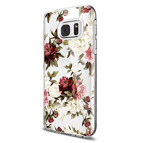 Funda Samsung S7, Samsung Galaxy S7 Silicona TPU Lindo Carcasa Suave Transparente Proteccion Flor Geometría Estuche Ultra-Delgado Anti-Choque Anti-arañazos Caja para S7 Edge (S7, 9)