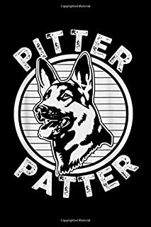 Pitter Patter: Funny Pitter Patter - Dog German Shepherd Dog Rescue Woof Journal/Notebook Blank Lined Ruled 6x9 100 Pages