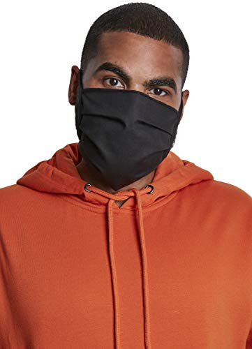 Build Your Brand Unisex-Adult Cotton Face Mask 3-Pack Alltagsmaske, black, one size