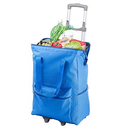 PEARL Einkaufstrolley: 2in1-XXL-Einkaufs-Trolley mit Abnehmbarer Kühltasche, 55 Liter (Einkaufstasche mit Rollen)