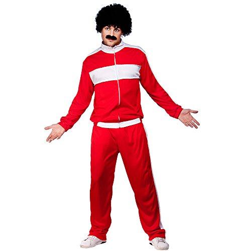 Déguisement costume Homme - Années 80 Rétro Jogging et veste - Rouge - XL