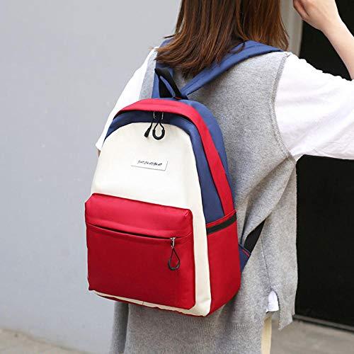 Schultasche Mädchen Tasche weibliche Campus High School College Rucksack Umhängetasche weibliche Flut einzelne Tasche grüner Reis hohe 39 breite 26 Dicke 10 einzelne Tasche roter Reis hohe 39 breite