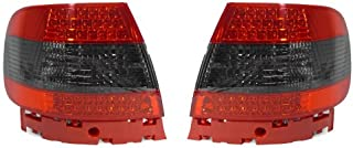 DEPO Red/Smoke Tail Lights FIT FOR 1996-2001 Audi A4/S4 B5 Quattro 4 Door Sedan