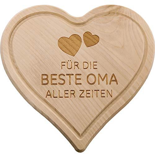 Spruchreif PREMIUM QUALITÄT 100% EMOTIONAL · Frühstücksbrettchen aus Holz · Brotzeitbrett mit Gravur · Geschenk für Familie · Herzbrettchen