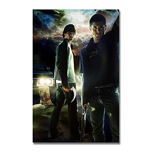 xinxinxiangrong Póster de la Serie de TV Sobrenatural, póster de Pintura en Lienzo para la decoración del hogar de Roma Viva A654 50 × 70 cm sin Marco