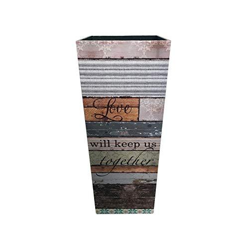 Rebecca Mobili Porta Bastoni da Passeggio, Porta Ombrello Vintage, MDF Canvas, Marrone Beige, Arredamento Casa Ufficio - Misure: 50 x 20 x 20 cm (HxLxP) - Art. RE6389