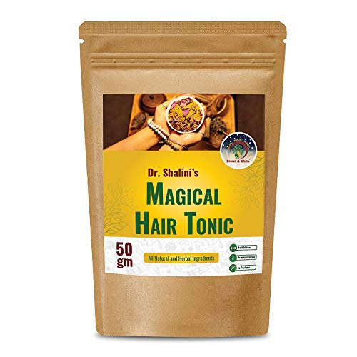 Brown & White Magical Hair टॉनिक (TONIC) for ALL TYPES of Hairs - 50gm