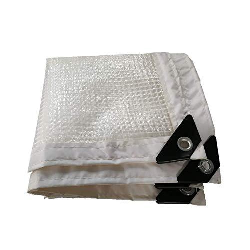 Bâche claire blanche avec des œillets, filet de jardin, maille épaisse de bordure de bâche imperméable, tissu résistant au rinçage pour la serre chaude, film d'isolation ZHAOFENGMING
