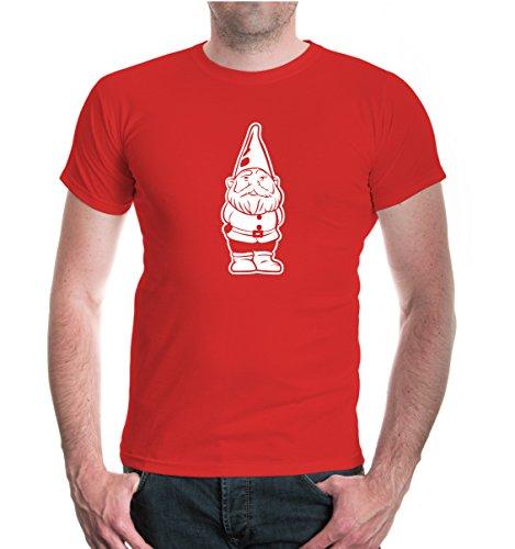 T-Shirt Garden GNOME-XXXL-Red-White