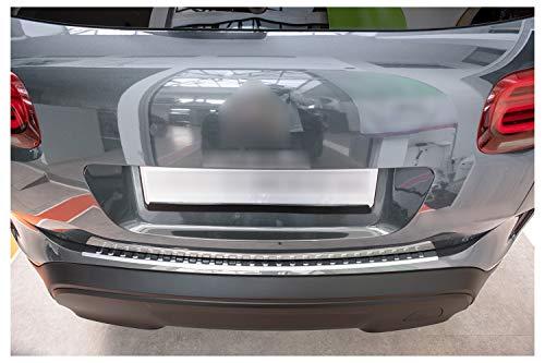 teileplus24 L662 Ladekantenschutz aus V2A Edelstahl mit Abkantung, Farbe:Silber gebürstet