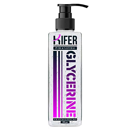 Kifer ® Pure Glycerin Unscented, 100% Vegan, Hypoallergenic Glycerine for Face Beauty Skin 250gm