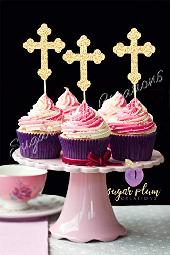 Cross Cupcake Toppers SET OF 12