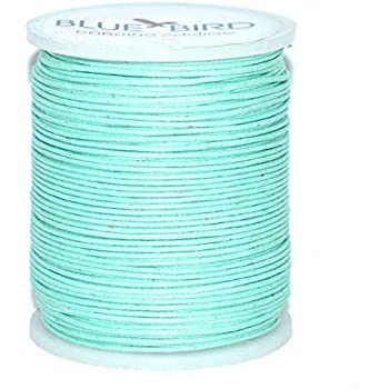 Blue Bird Maine Thread 5mm Stone Polished/Braided Cotton Cord Includes 1 Spool. 100 Meters per Spool