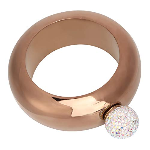 Fiaschetta per alcol in acciaio inossidabile con regalo di compleanno, fiaschetta, fiaschetta per polso super-sigillabile Bracciale per vino/brocca per alcol per(Bronze 1)