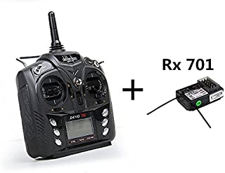 Dancing Wings Hobby RC Aeroplane & Helicopter Walkera DEVO 7E 2.4G 7CH Transmitter with DSSS Format and 701 Receiver Radio Control Transmitter American Hand (Left Hand Accelerator) TX109L