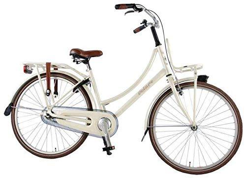 .Volare Bicicletta Bambina Ragazza Excellent 26 Pollici con Freno a V e Contropedale Cavalletto e Portapacchi Bianco Perla 95% assemblata