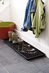 boot tray, decor, mesh grid, drip grid, water, snow, ice, mess, germ, diy, mudroom, doors, dana vento, home decor